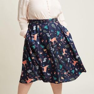 Modcloth woodland Forest creatures plus size